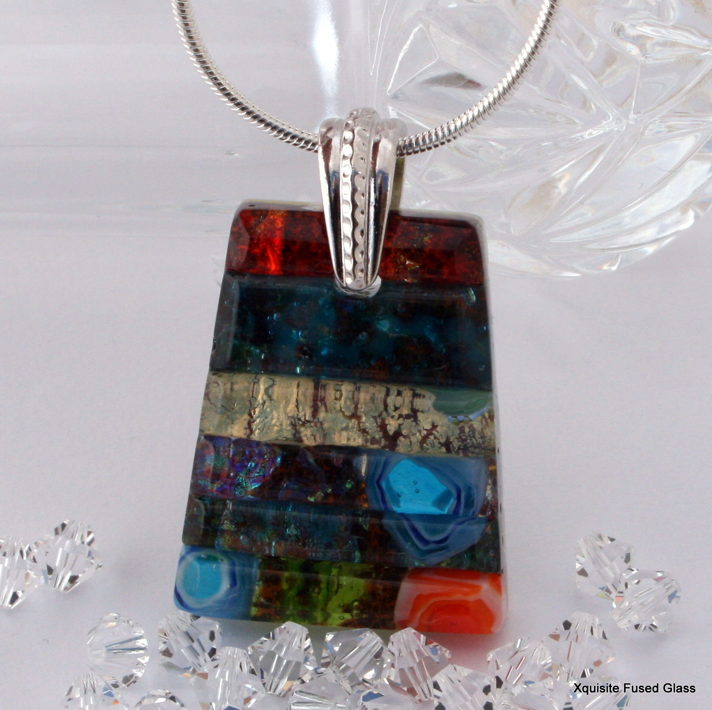 michelle aae fused pendant jewelry dichroic recipes glass by veit wp tanya